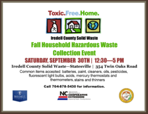 Cover photo for Fall Hazardous Waste Collection Event