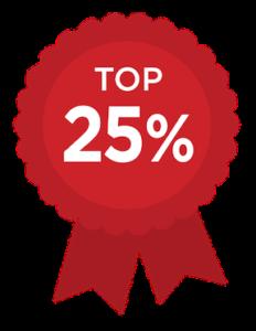 Award- Top 25%