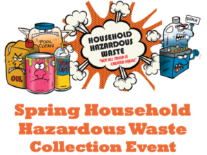 Cartoon images of hazardous waste