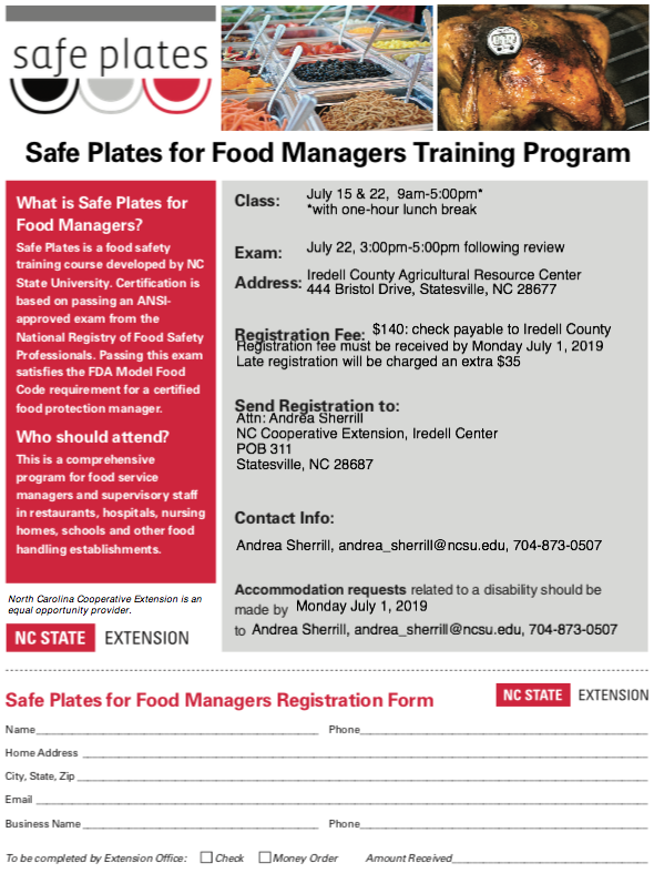Safe Plates Class Advertisement