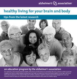 Healthy Living, Healthy Brain, Alzheimer's Association Logo