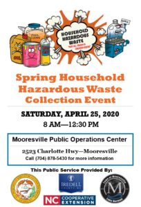 Cover photo for Spring Household Hazardous Waste Collection Event