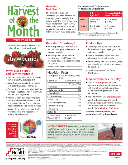 Steps to health Strawberry Info 2