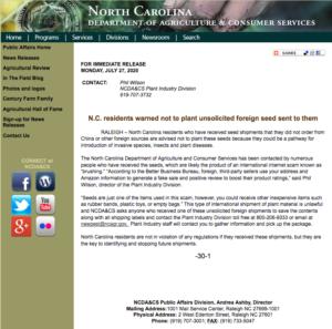 NCDA Press Release