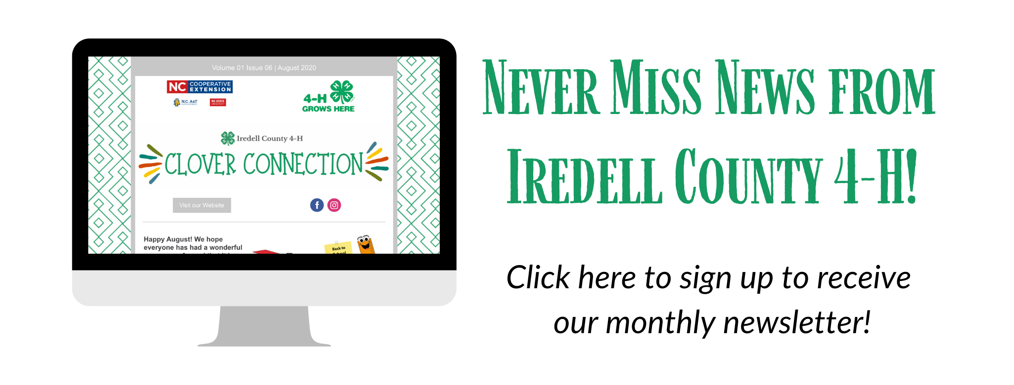 News from Iredell County 4-H banner