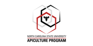 NCSU: Apiculture Program Logo Red, White, and Black six-side shapes with bee in the center