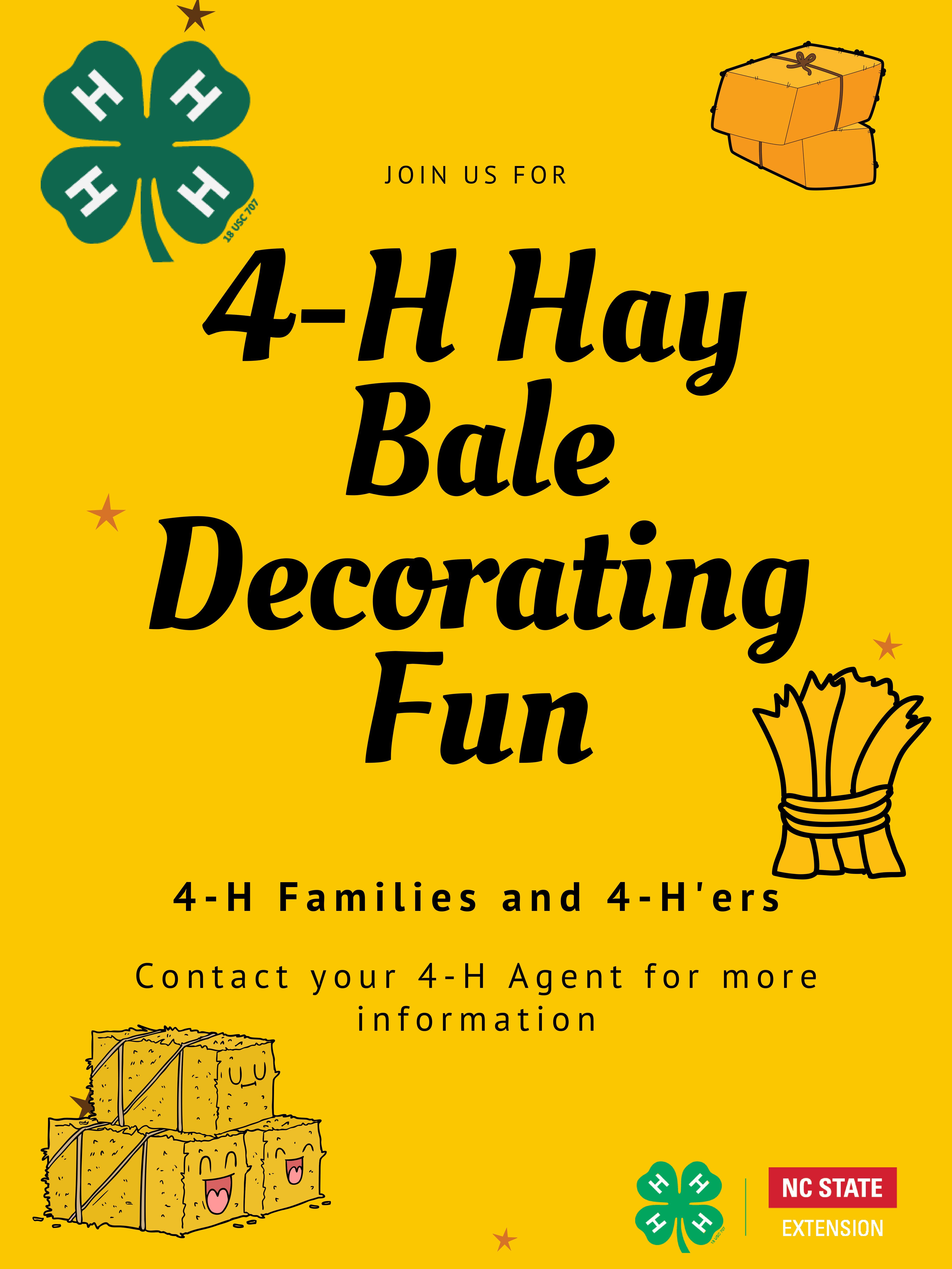 Drawing of hay bales