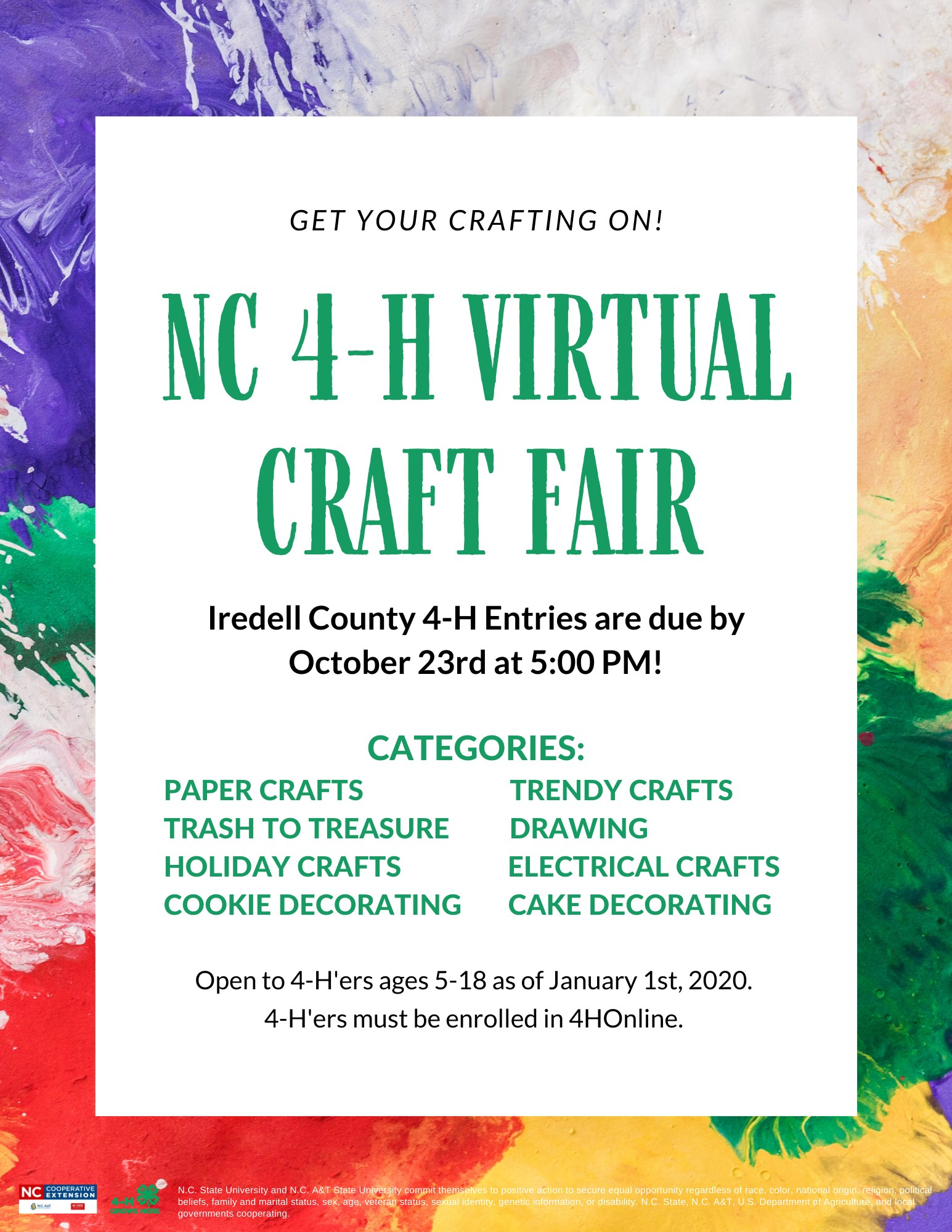 Virtual Craft Fair flyer