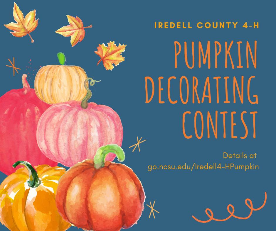 pumpkins decorating contest flyer