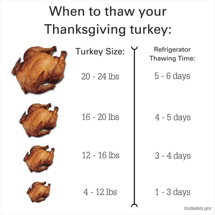 Thawing Turkey Picture Information