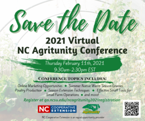 Cover photo for NC Agritunity Goes virtual in 2021!!