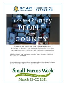 Small Farms Week Canned food drive