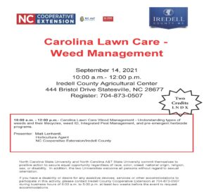 Cover photo for Carolina Lawn Care - Weed Management